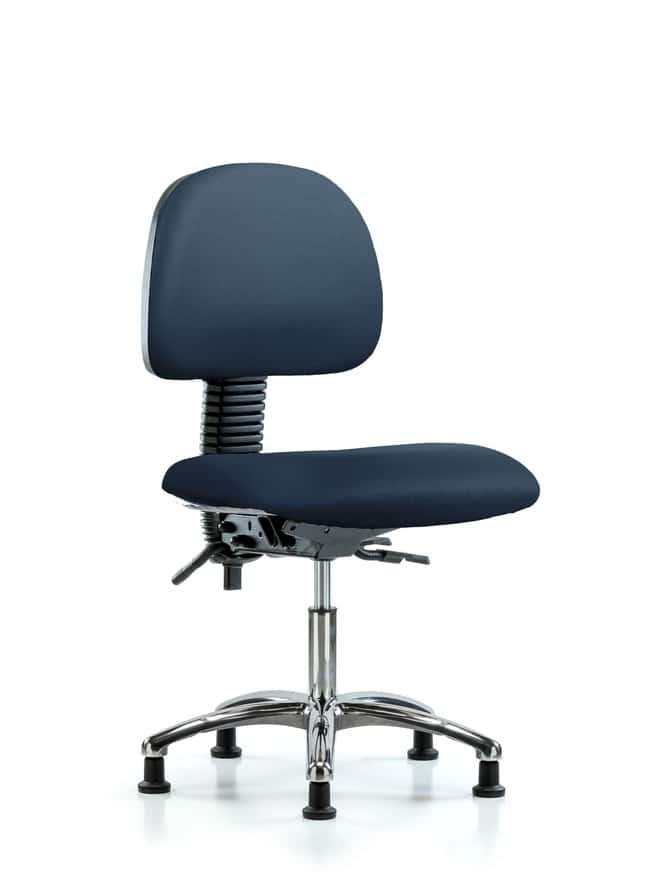 Fisherbrand Vinyl Chair Chrome - Desk Height with Casters in Grade A Vinyl