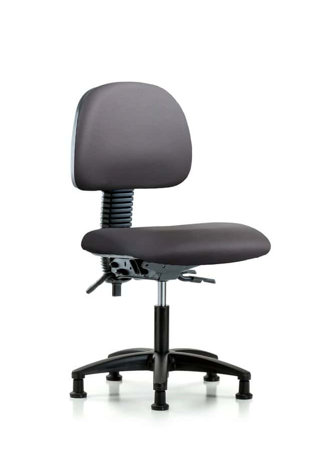 Fisherbrand Vinyl Chair - Desk Height with Casters in Grade A Vinyl Carbon:Furniture,