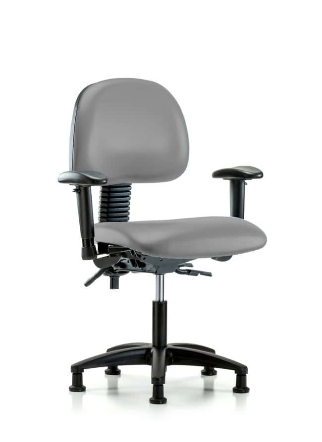 FisherbrandVinyl Chair - Desk Height with Adjustable Arms and Casters in