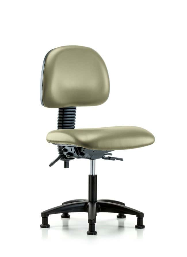 Fisherbrand Vinyl Chair - Desk Height with Seat Tilt and Casters in Grade