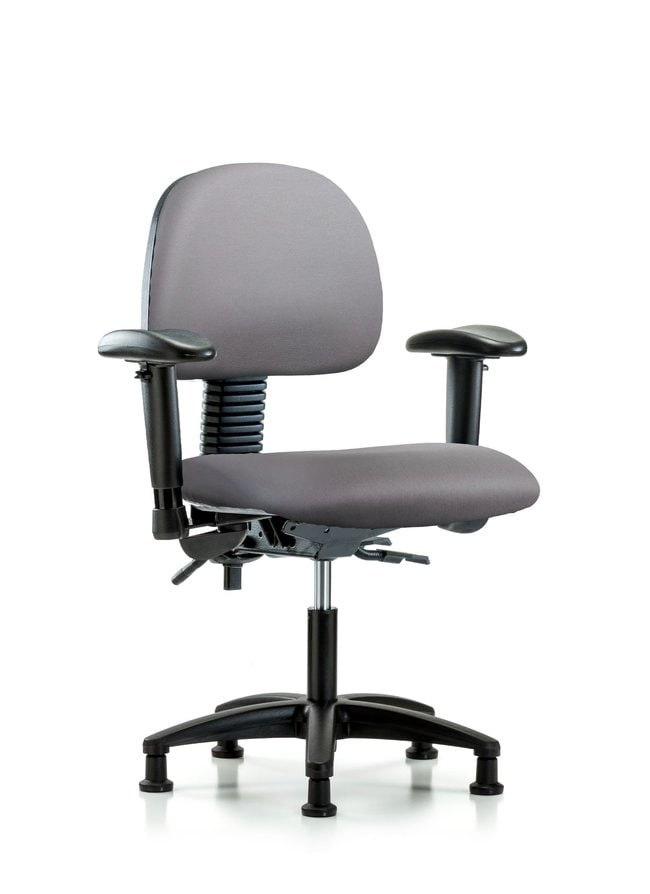 Fisherbrand Vinyl Chair - Desk Height with Seat Tilt Sterling:Furniture,