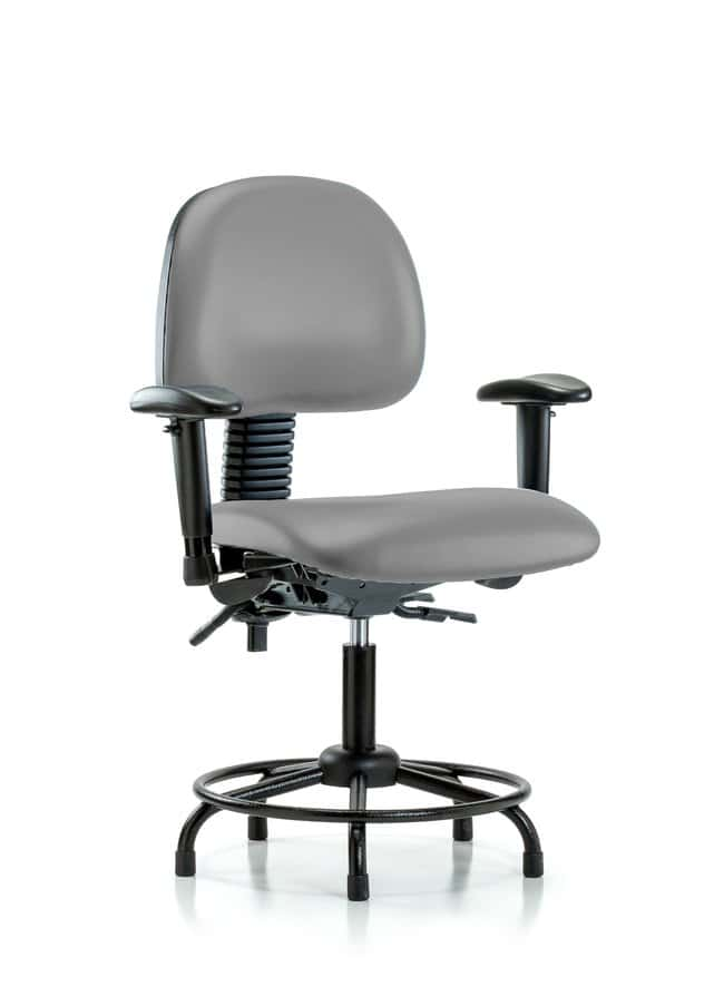 Fisherbrand Vinyl Chair - Desk Height with Round Tube Base Dove:Furniture,