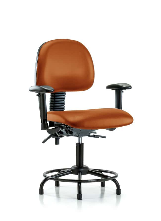Fisherbrand Vinyl Chair - Desk Height with Round Tube Base Orange Kist:Furniture,
