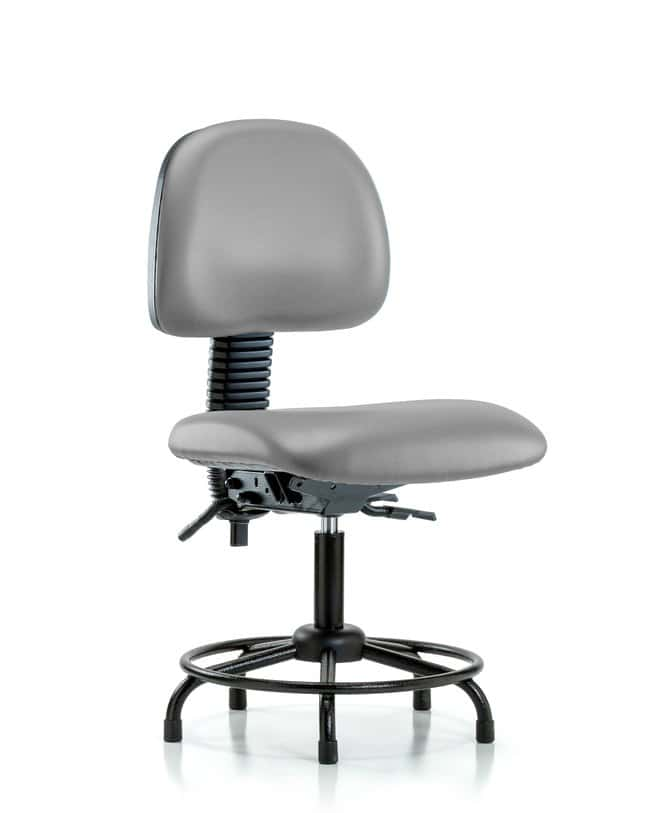 Fisherbrand Vinyl Chair - Desk Height with Round Tube Base, Seat Tilt,