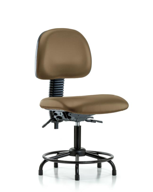 Fisherbrand Vinyl Chair - Desk Height with Round Tube Base, Seat Tilt,