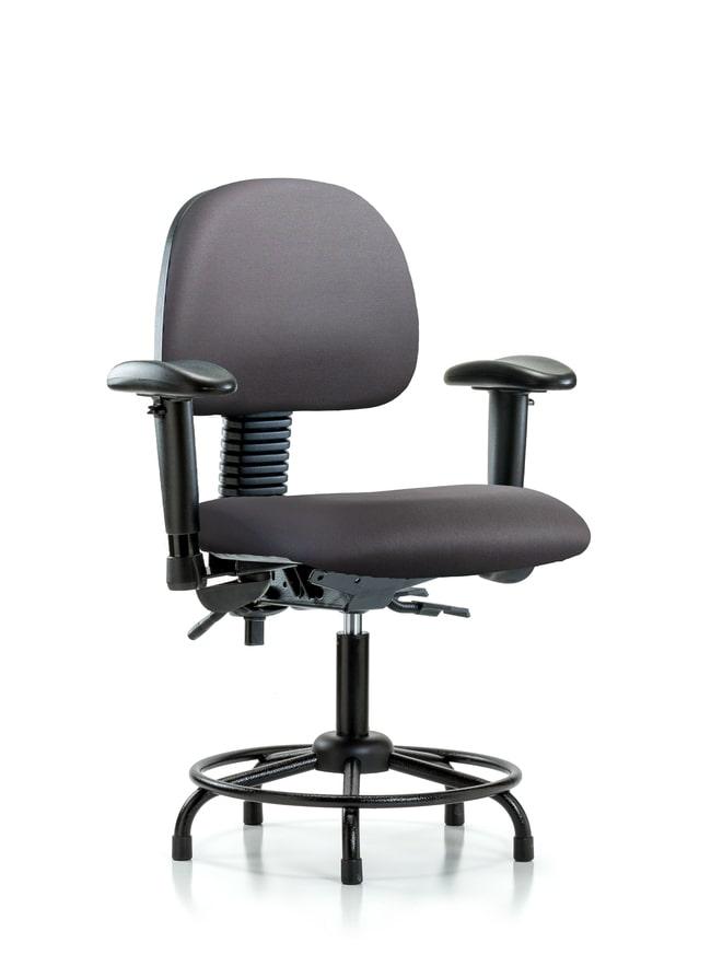 FisherbrandVinyl Chair - Desk Height with Round Tube Base, Seat Tilt Carbon:Furniture