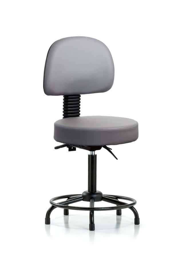 FisherbrandVinyl Stool with Back - Medium Bench Height with Round Tube