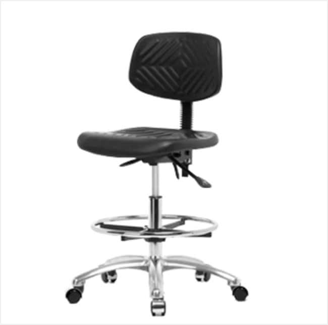 FisherbrandPolyurethane Chair Chrome - Medium Bench Height with Seat Tilt,