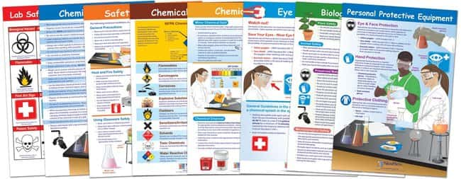 NewPath Learning Safety in the Lab Bulletin Board Set of 8  Safety in the