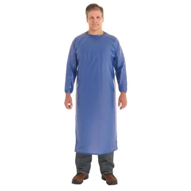 Ansell Vinyl Coat Aprons 8mil; Blue; 2X-Large:Gloves, Glasses and Safety