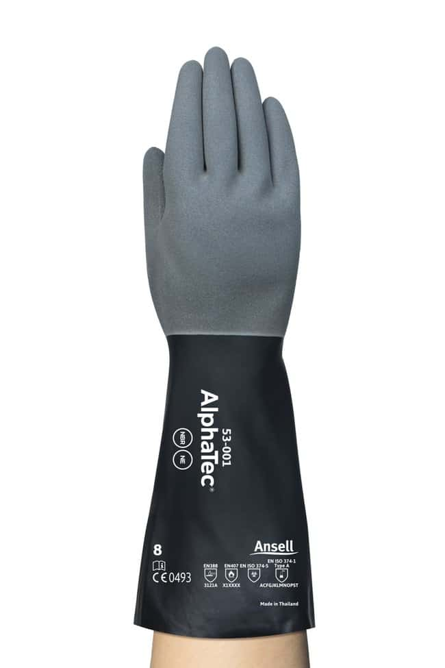Ansell AlphaTec 53-001 Nitrile Chemical Resistant Gloves Size: 8:Gloves,
