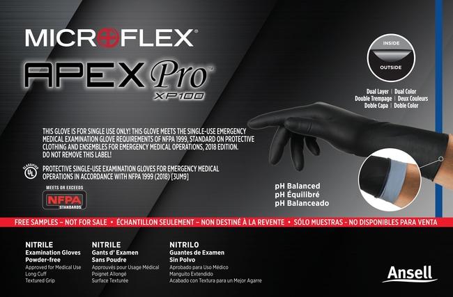 Ansell MICROFLEX ApexPro XP100 APXP12 Size:  X-Small