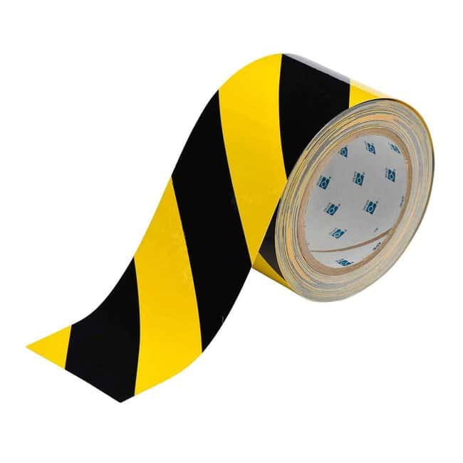 Brady™ ToughStripe™ Floor Marking Tape Width: 7.6cm (3 in.); Black/Yellow Brady™ ToughStripe™ Floor Marking Tape