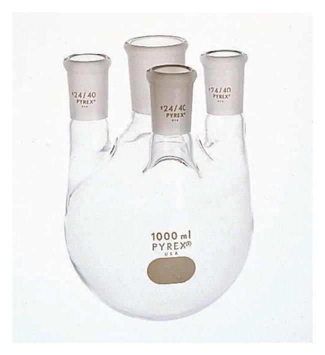 PYREXDistilling Flasks with Four Necks, Standard Taper Joint 1 L:Flasks