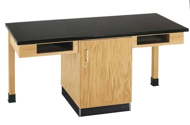 Diversified Woodcrafts Two-Student Single Storage Cabinet Table  :Teaching