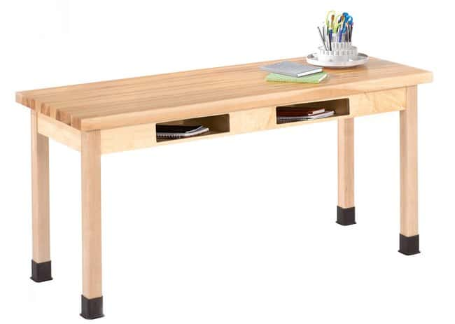 Diversified Woodcrafts Two-Book Compartment Maple Table with Maple Top