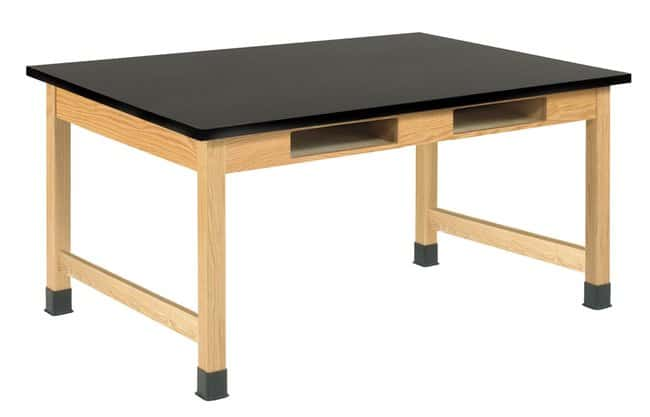 Diversified Woodcrafts Four-Book Compartment Oak Table with ChemGuard Top: