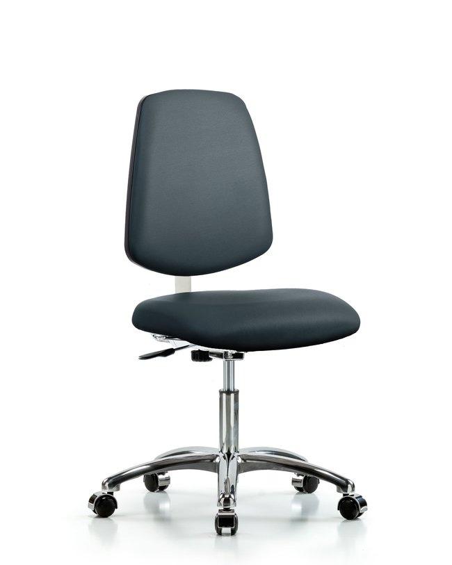FisherbrandClass 10 Clean Room Vinyl Chair Chrome - Desk Height with Medium