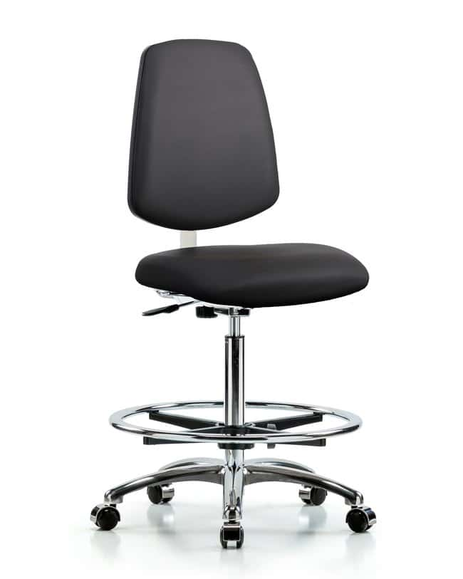 FisherbrandClass 10 Clean Room Vinyl Chair Chrome - High Bench Height with