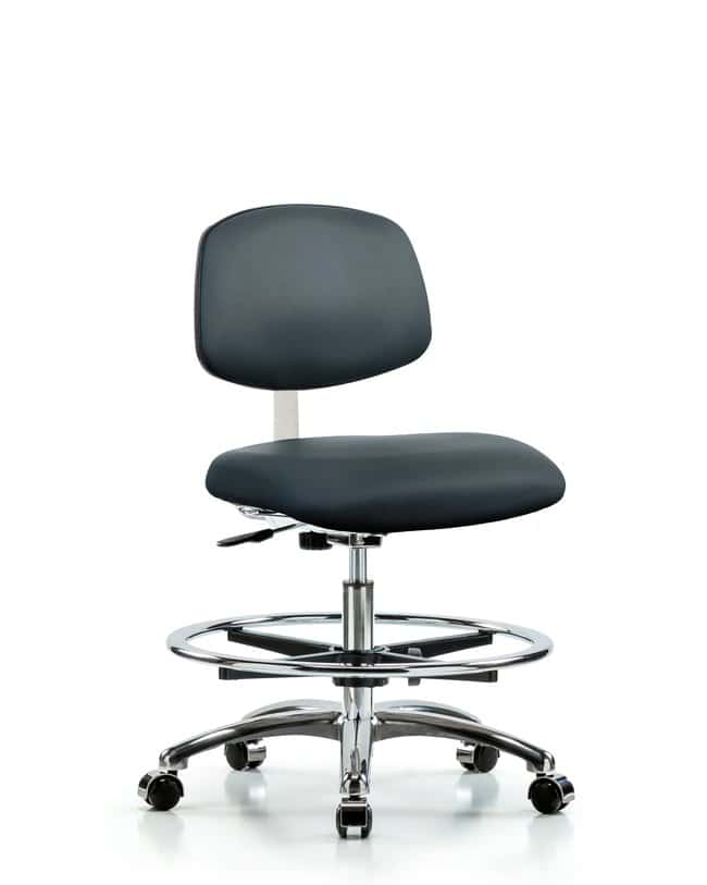 Fisherbrand Class 10 Clean Room Vinyl Chair Chrome - Medium Bench Height