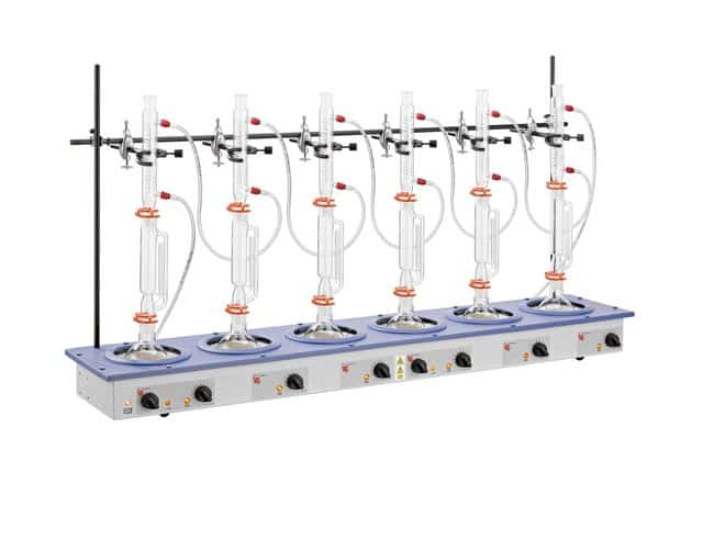 Electrothermal™Multi Extraction Mantles: 6 Recess Model, Heating and Stirring Model: EMEA60500/CE; Flask capacity: 500mL (16.9oz.); 230V 50/60Hz, 1280w (UK and EU plug) Electrothermal™Multi Extraction Mantles: 6 Recess Model, Heating and Stirring