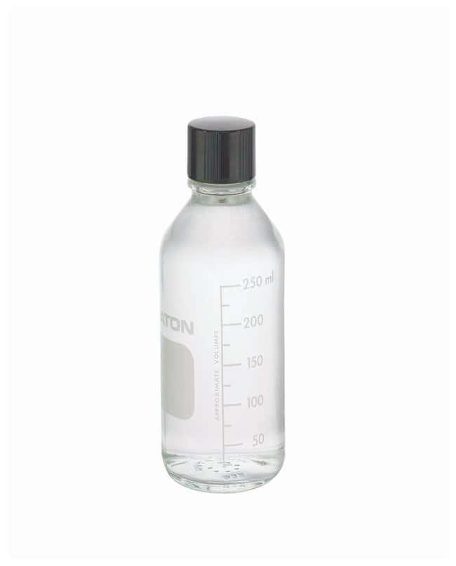 DWK Life Sciences Wheaton™ Graduated Media/Lab Bottles: Clear Glass, With LDPE-Lined Phenolic Cap (Not Autoclavable) 250mL; polyethylene (LDPE) lined phenolic cap DWK Life Sciences Wheaton™ Graduated Media/Lab Bottles: Clear Glass, With LDPE-Lined Phenolic Cap (Not Autoclavable)