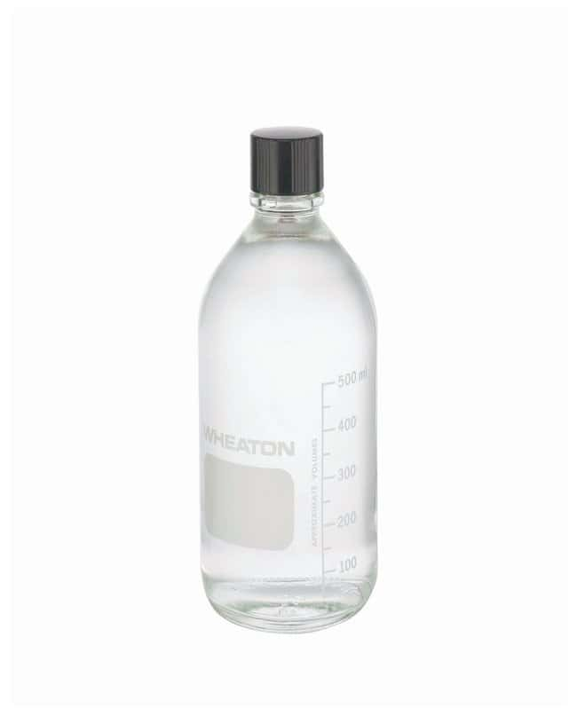 DWK Life SciencesWheaton™ Graduated Media/Lab Bottles: Clear Glass, With Rubber-Lined Cap (Autoclavable)