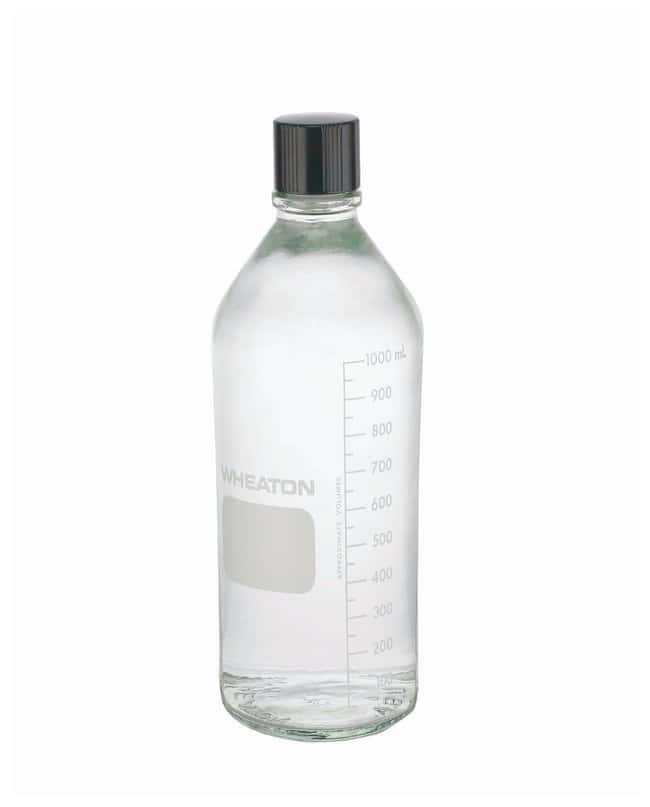 DWK Life Sciences Wheaton  Graduated Media/Lab Bottles: Clear Glass, With Rubber-Lined Cap (Autoclavable)