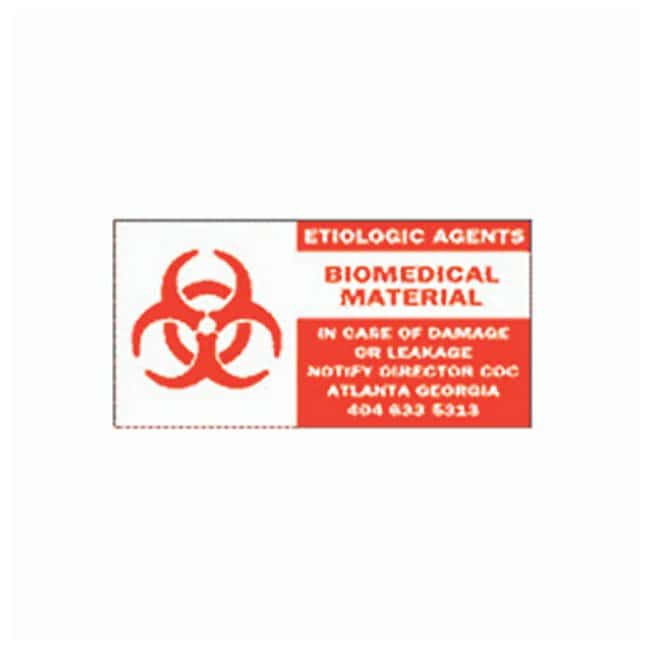 Brady Hazardous Material Shipping Labels  Hazardous material shipping label;