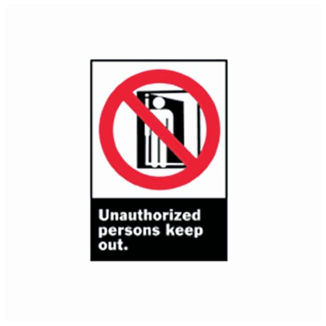 BradyANSI Z535 Safety Signs: Unauthorized Persons Keep Out High performance