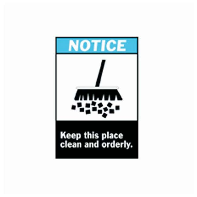Brady™ ANSI Z535 Safety Signs: Keep This Place Clean and Orderly