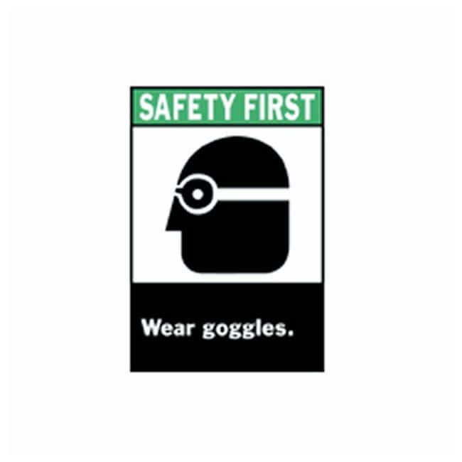 Brady™ ANSI Z535 Safety Signs: Wear Goggles