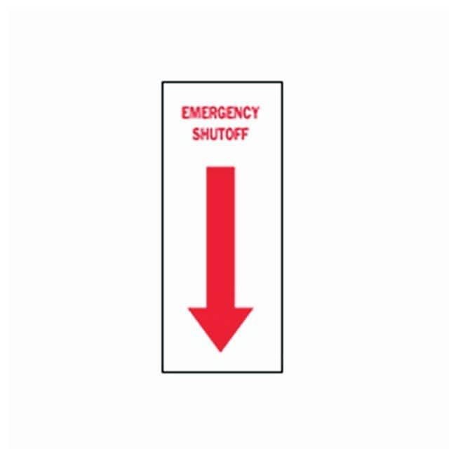 Brady Emergency Shutoff Sign Legend: Emergency Shutoff with pictogram;