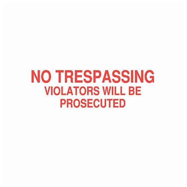 Brady Reserved Parking Sign Legend: No Trespassing Violators Will Be Prosecuted;