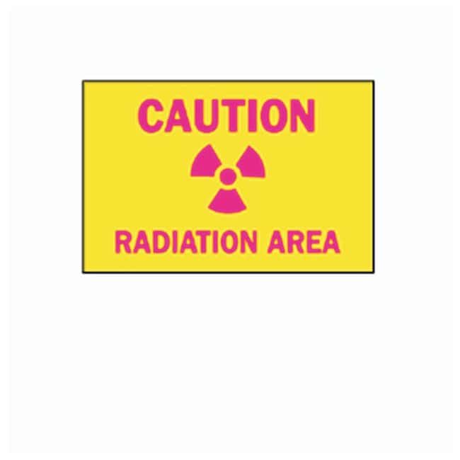Brady Caution Radiation Area Sign L x W: 7 x 10 in.; Material: Plastic:Gloves,