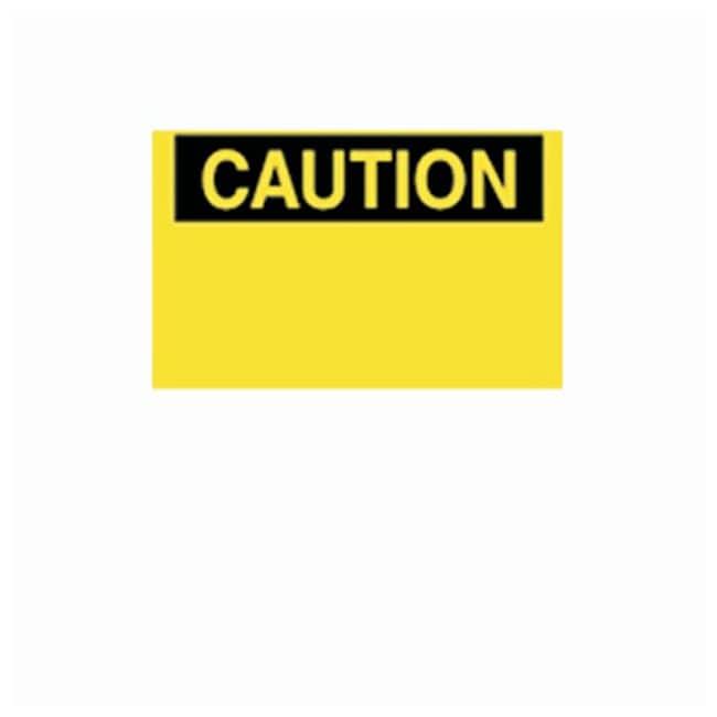Brady Blank Signs with Preprinted CAUTION Header Corrugated polypropylene;