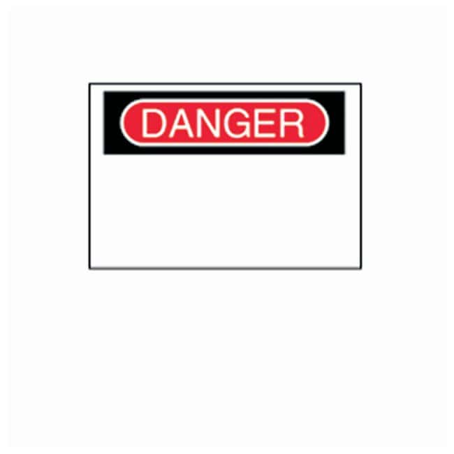 Brady Blank Signs with Preprinted DANGER Header Material: Corrugated polypropylene;