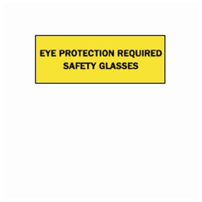 Brady Eye Protection Signs Sign: EYE PROTECTION REQUIRED SAFETY GLASSES:Gloves,
