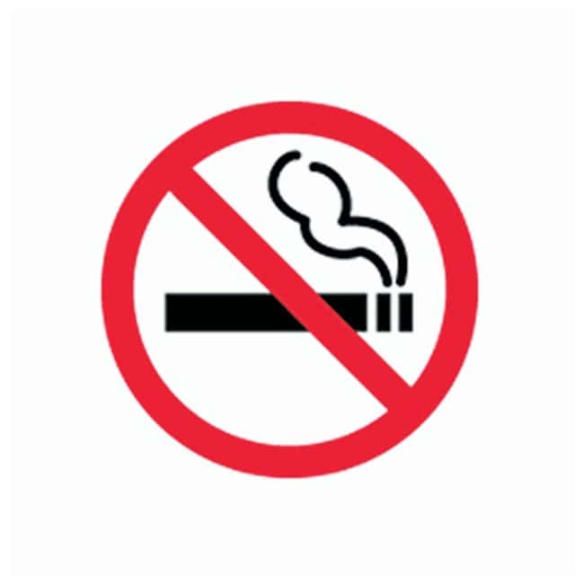 Brady Floor Safety Signs NO SMOKING PICTOGRAM; Black/red on white:Gloves,