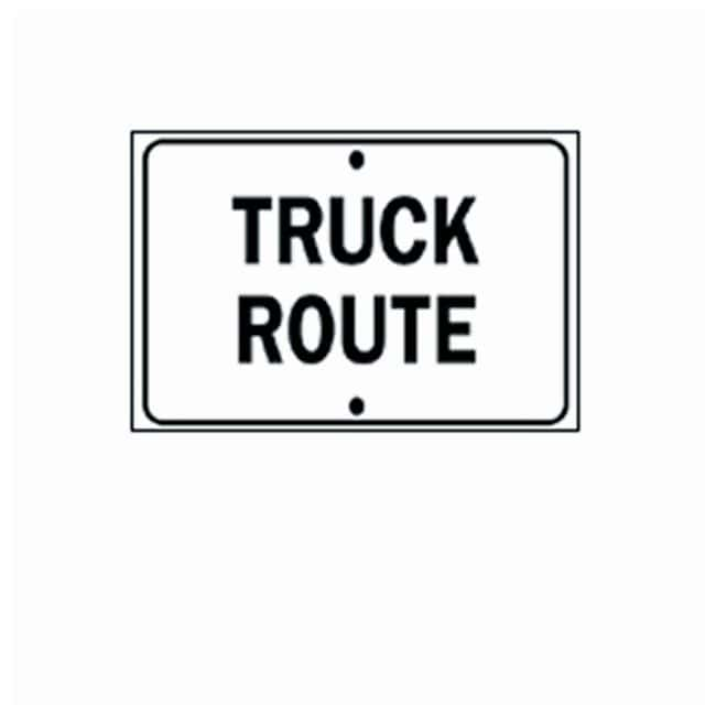 Brady General Traffic Signs Reflective Aluminum sign; Legend: TRUCK ROUTE:Gloves,