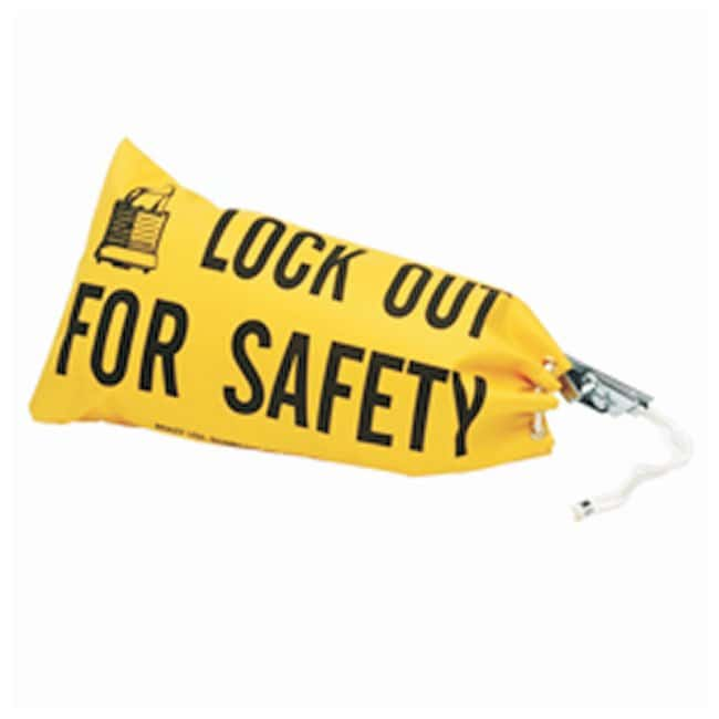 Brady Lockout Bag Size: 9-3/4H x 18 in.L:Gloves, Glasses and Safety