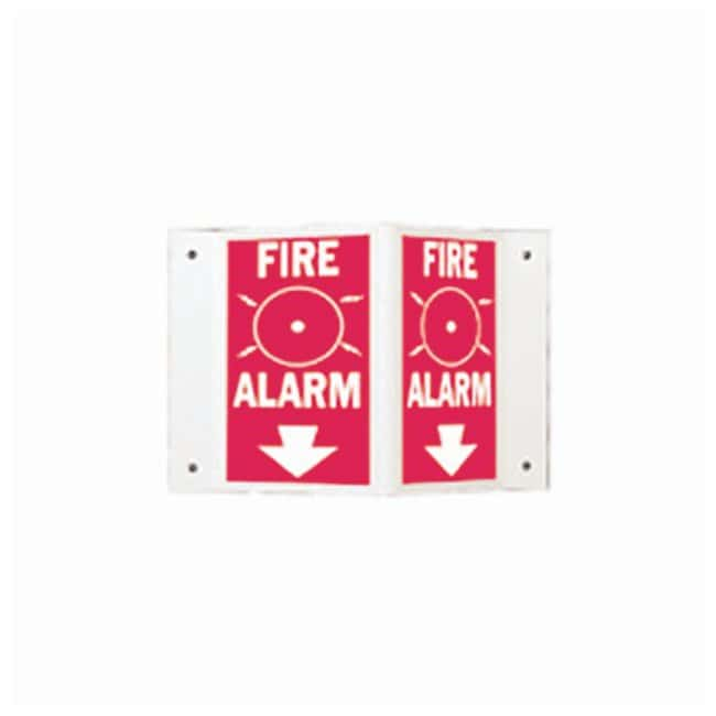 Brady Industrial-Grade Polstyrene Safety Signs Legend: fire alarm (W/DOWN