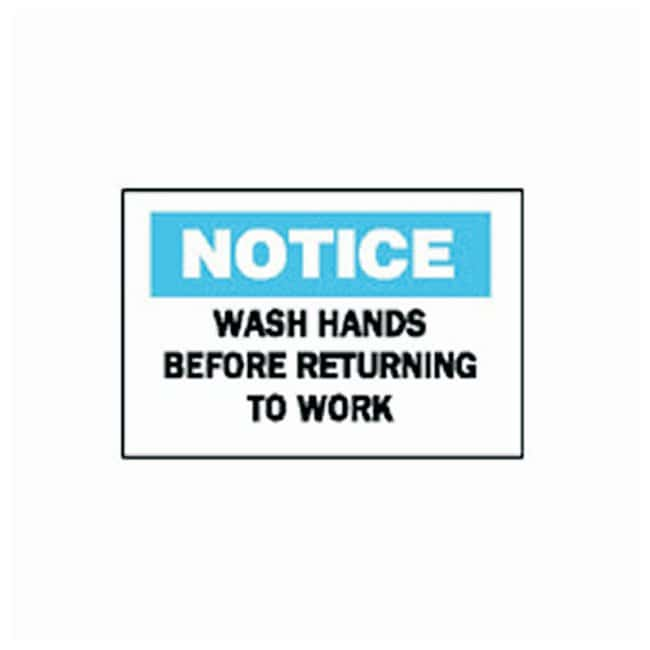Brady Personal Hygiene Signs: Wash Hands Before Returning To Work Premium
