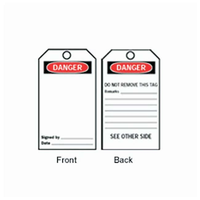 Brady Accident Prevention Tags - Danger Front legend: blank; 3 x 5.75 in.;