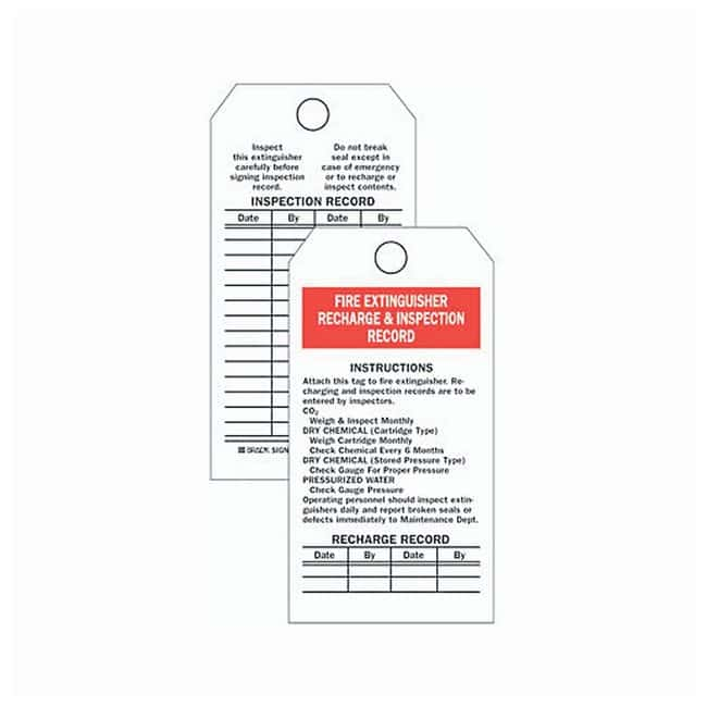 Brady™Fire Extinguisher Tags