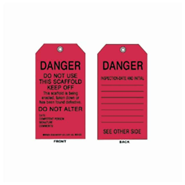 Brady Scaffolding Tags:Gloves, Glasses and Safety:Facility Maintenance
