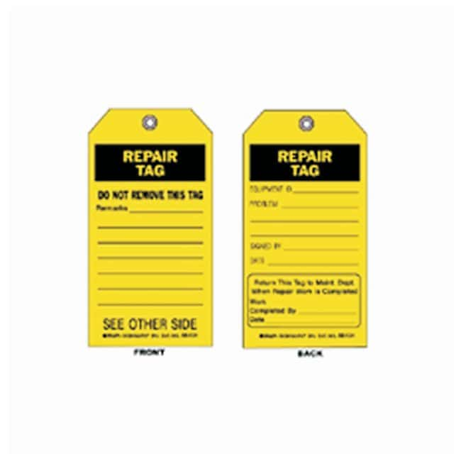 Brady™ Accident Prevention Tags - Maintenance Order