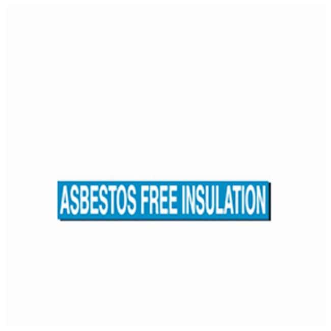 Brady Self-Sticking Vinyl Pipe Markers Asbestos Free Insulation; White