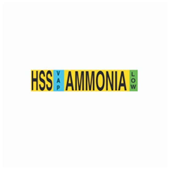 Brady Stock Ammonia IIAR Pipe Markers IIAR Abbrev: HSS; Physical State: