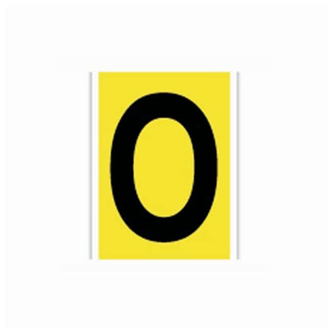 Brady Bradylite Reflective Numbers and Letters Black on yellow; Legend: